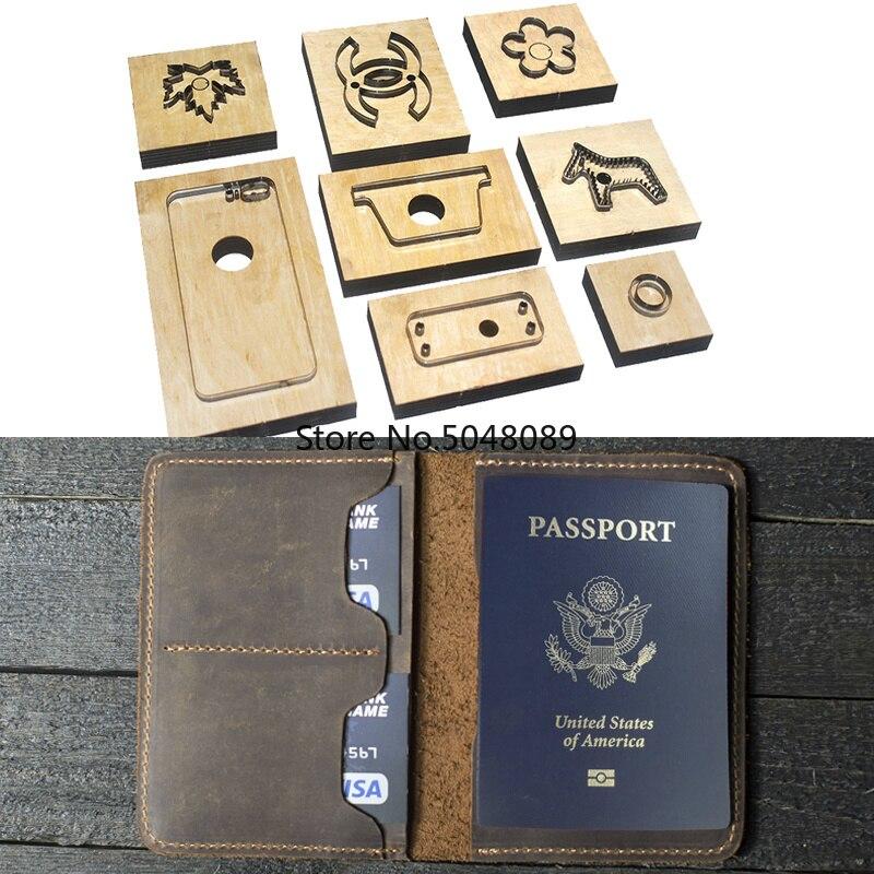Japon lame en acier Die Cutter modèle en cuir passeport portefeuille cadeau pour homme passeport titulaire poinçon outil à main coupe couteau moule