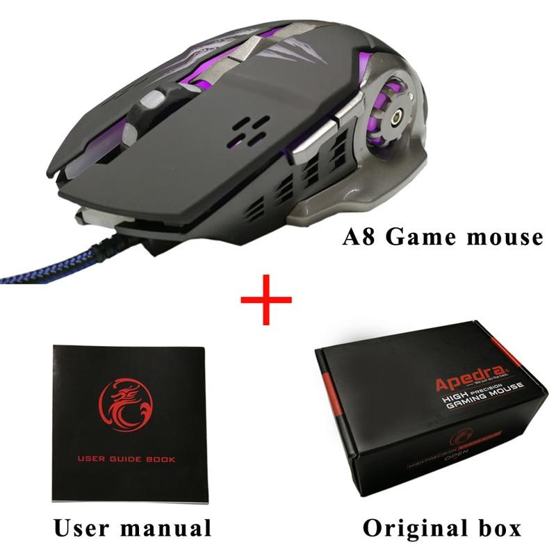 Apedra A8 Nowa bezprzewodowa mysz do gier Profesjonalny program do - Peryferia komputerowe - Zdjęcie 5