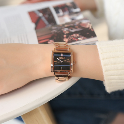 GUOU Top Brand Luxury Watch Women Square Sports Watches Fashion Lady Stainless Steel Quartz Wrist Watch Clock Relogio Feminino цена и фото