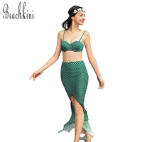 New Mermaid Swimsuit Bikinis Women 3 Pieces Swimwear Sexy Bathing Suit Beachwear Bikini Set