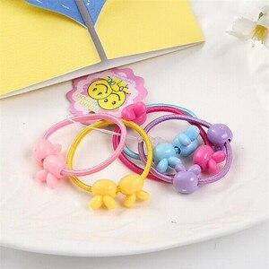 Детские резинки для волос с мишками, цветочками, кроликами и звездочками (50 шт)