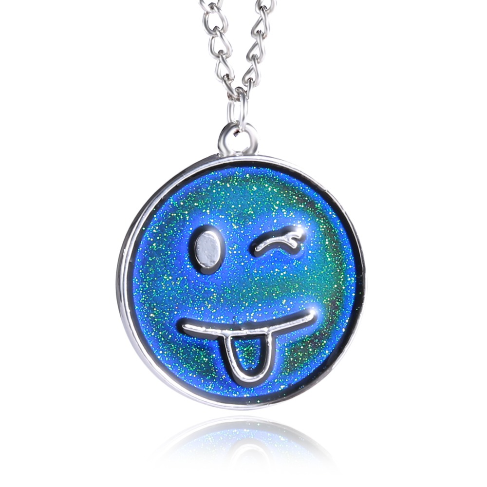 2018 new smile necklace changing color necklace mood for Fashion jewelry that won t change color