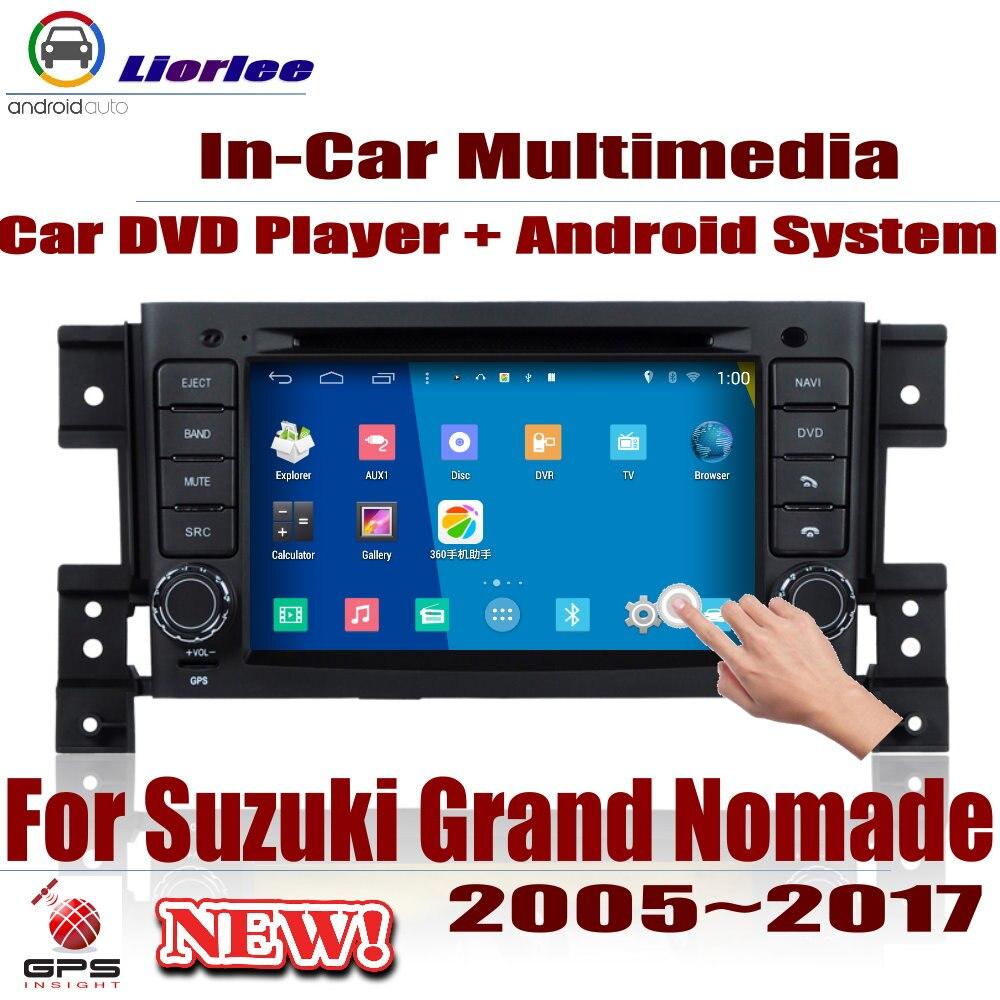 Lecteur DVD Auto Navigation GPS pour Suzuki Grand Nomade 2005 ~ 2017 voiture système multimédia Android écran HD Radio stéréo unité de tête