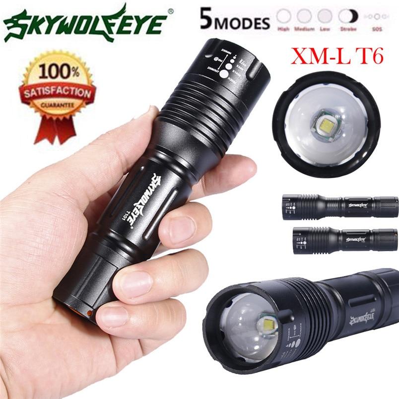 Led Lighting Cooperative Newest Super Bright 5mode Zoomable Xml T6 Led 18650/aaa Flashlight Focus Torch Lamp Adjustable Wholesales 2017 Nom19 Led Flashlights