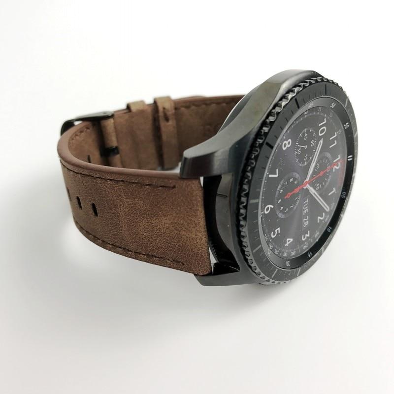 POUR Samsung Gear S3 Frontière/Classique Montre En Cuir Bande 22mm FOLOME  Bracelet Californie Cowboy Style Sangle De Remplacement dans Bracelets de  Montres