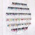 60*60 CM Colgante Circular De Hierro Forjado Arte esmalte de Uñas Pared Estante del Soporte de Exhibición Estante Cosméticos Maquillaje Del Organizador Del Almacenaje titular