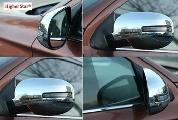 고품질 ABS 크롬 2 pcs 자동차 도어 미러 장식 보호 커버 mitsubishi outlander 2006-2019