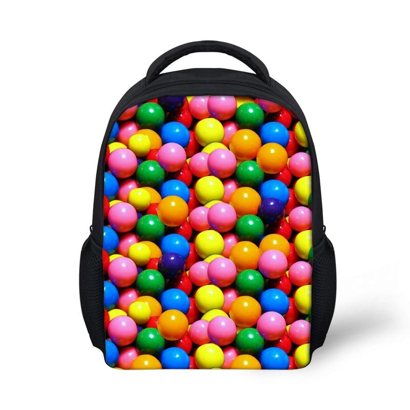 12 Inch Candy Printing Backpacks Kids School Backpack for Baby Girls Mochila Escolar Kindergarten Kids Travel Bagpack Mochila