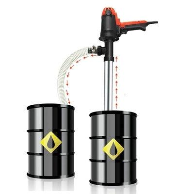 Portable 220V Portable Electric Drum Pump Bucket Pump Diesel Pump Sucker Pump Lubricator/Liquid Extraction Tool
