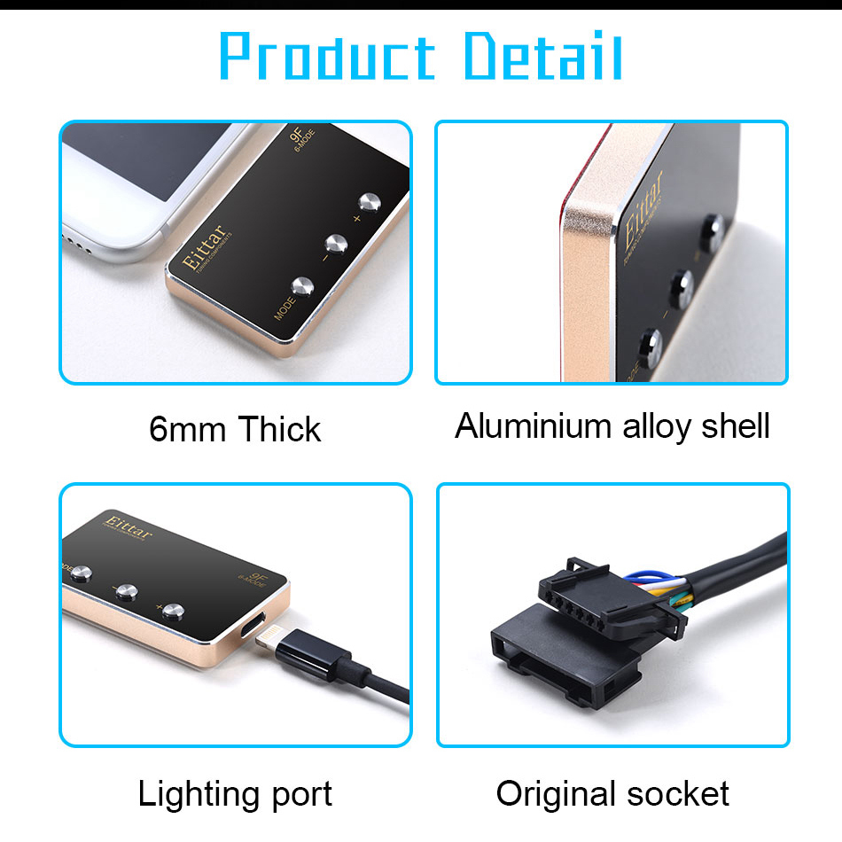 Car Electronic Throttle Controller Automobile Gas Pedal Accelerator Booster Pedal Commander For TOYOTA LAND CRUISER 2008 in Car Electronic Throttle Controller from Automobiles Motorcycles