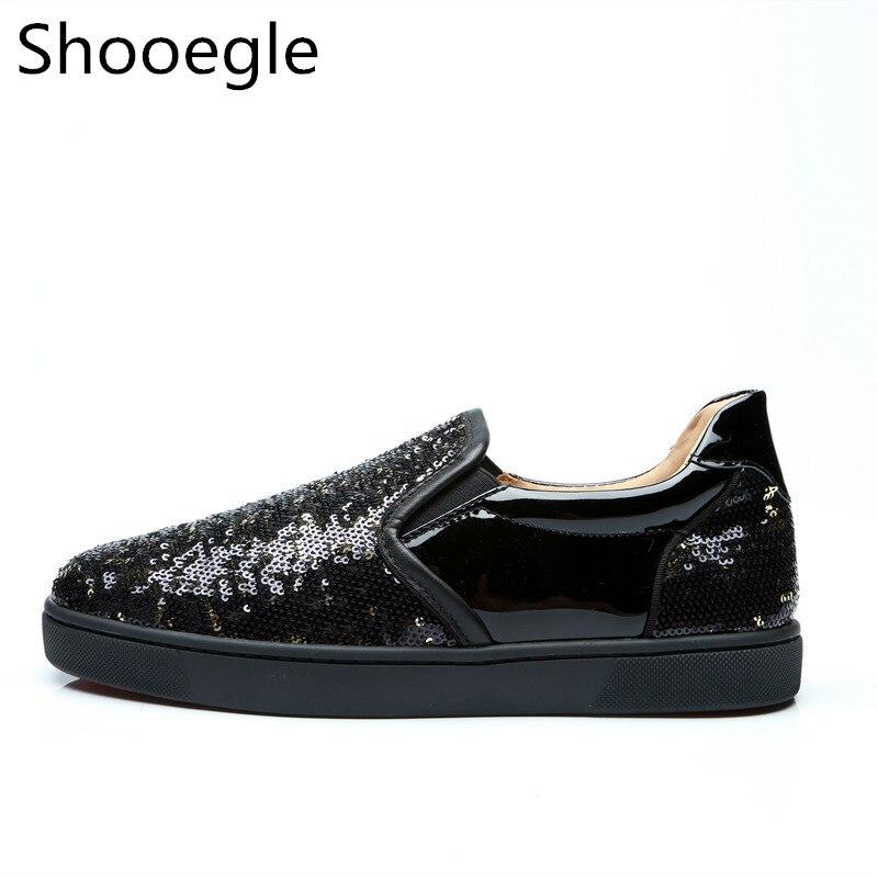 Negócios Shoes Glitter As Top Patchwork Homens Casual Pic Vestido Preto Moda Lantejoulas Bling Low Men Partido Sapatos Mocassim q1fq7w