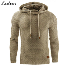 Купить с кэшбэком IceLion 2019 Fashion Plaid Hoodies Men Sweatshirts Hoodie Sportswear Spring Summer Slim Solid Casual Men's Pullover Tracksuit