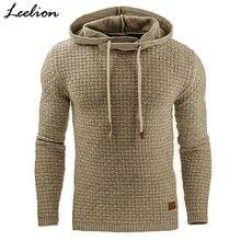Здесь можно купить  LeeLion 2017 Fashion Plaid Hoodies Men Sweatshirts Hoodie Sportswear Autumn Winter Slim Solid Casual Male Pullover Tracksuit