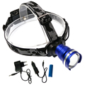 High Power CREE XML-T6 Led Headlamp 3800 Lumens Head lamp LED Headlight Waterproof Zoomable lampe frontale+18650 battery+charger