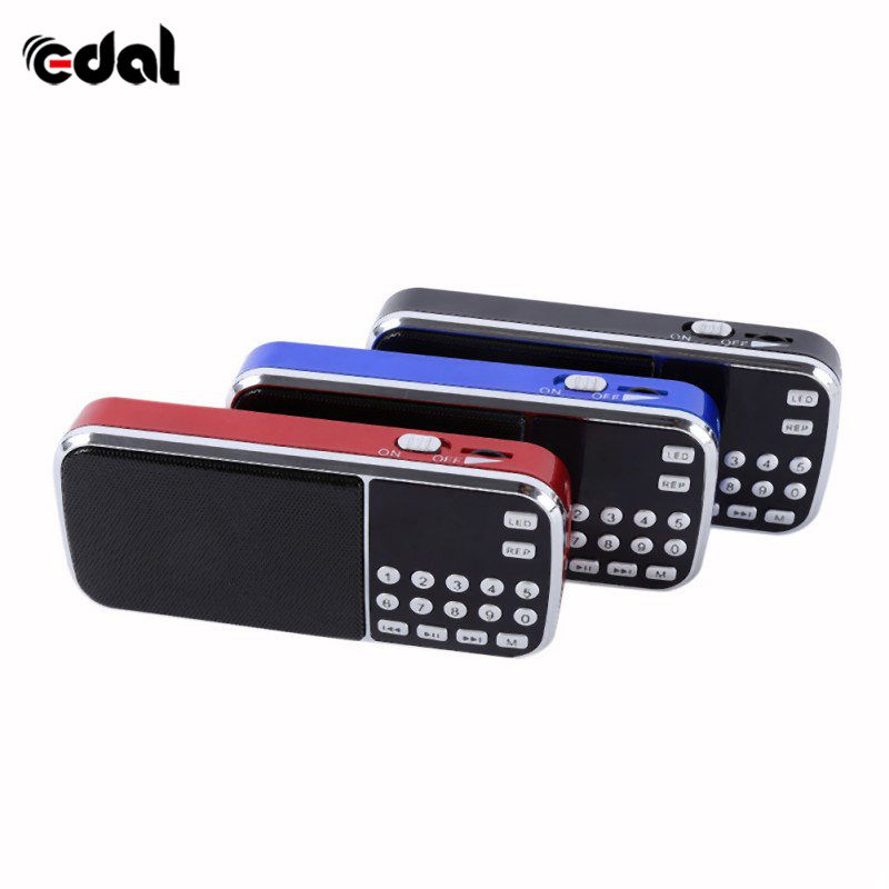 New Arrival Portable Digital Stereo FM Mini Radio Speaker Music Player with TF Card USB AUX Input Sound Box Blue Black Red n74u portable media player speaker magaphone w tf usb fm microphone black