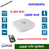 CCTV 4CH Mini NVR H 264 1080p 960P 720p Video Recorder NVR PC Mobile View Onvif
