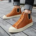 Ramialali Brand Men Shoes Lace-Up Breathable Flat With High Top Warm Leather Shoes Autumn Work Shoe Casual Patchwork Shoes Man