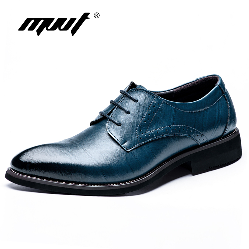 mvvt brand pointed toe oxfords formal shoes quality