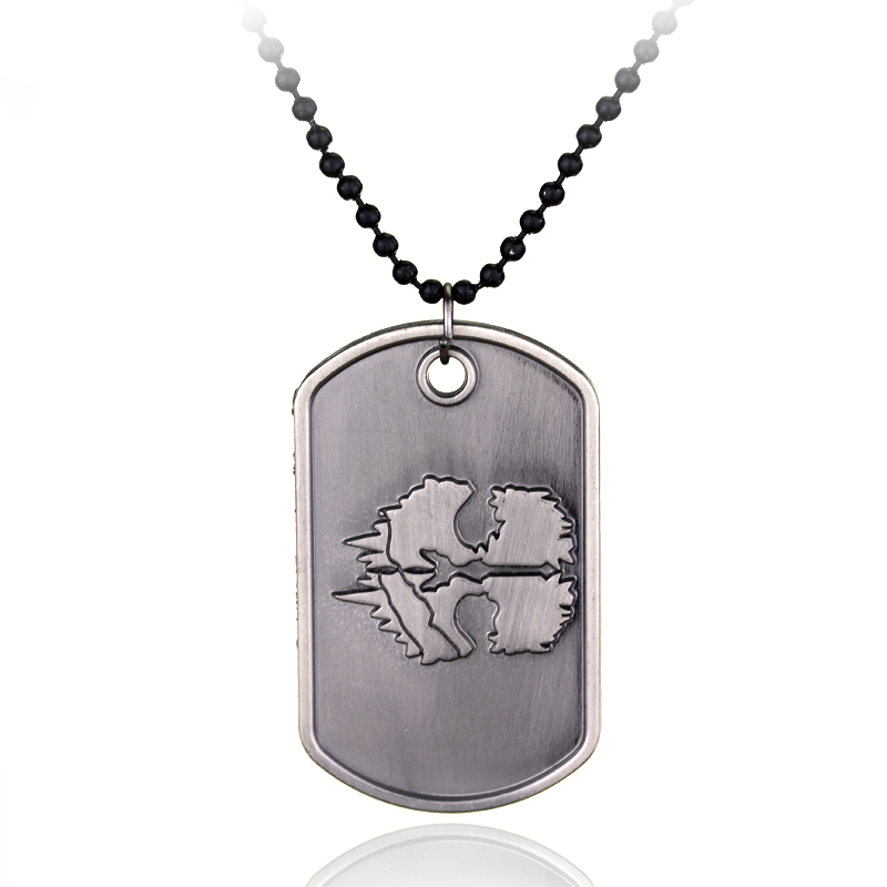 dongsheng Game Jewelry Call Duty Ghosts Dog Tag Alloy Pendant Necklace