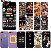 Babaite Friends Season TV TPU black Phone Case Cover Shell for Apple iPhone 8 7 6 6S Plus X XS MAX 5 5S SE XR