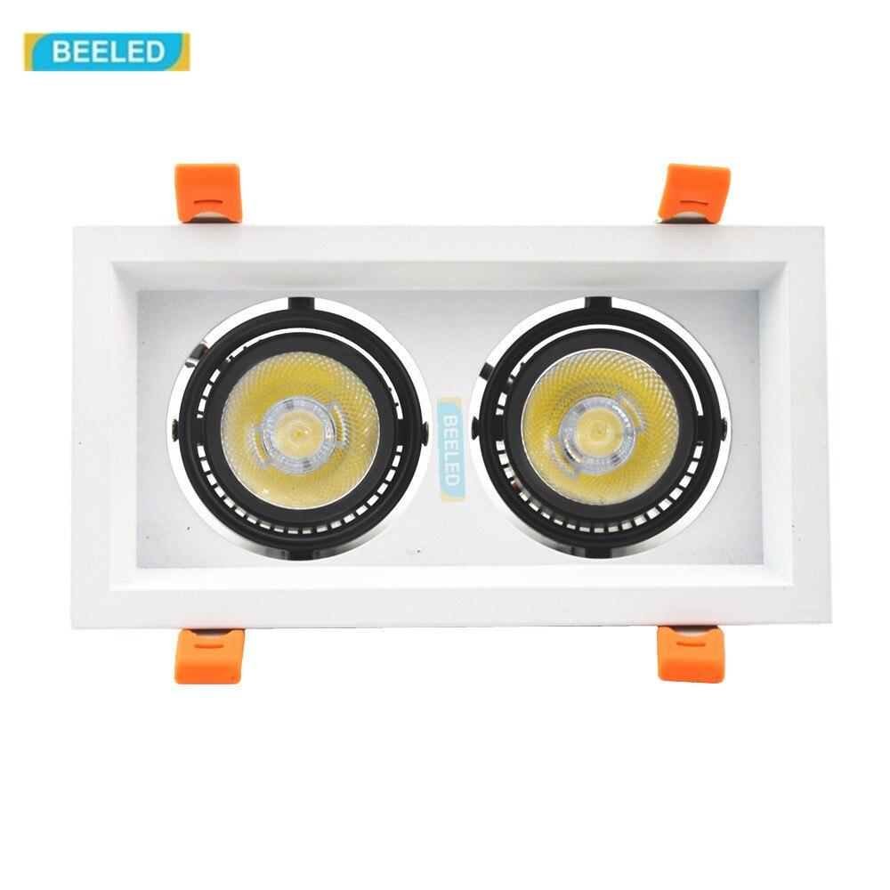 Светодиодный светильник 30 Вт светодиодный удара шарика светодиодный пятна встраиваемые потолочный светильник белый алюминиевый корпус св...