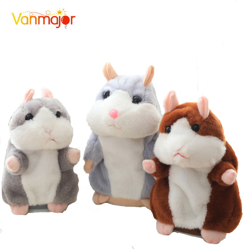 2017 Talking Hamster Mouse Pet Plush Toy Hot Cute Sound Record Hamster Educational Toy for Kids Gift talking hamster plush toy hot cute speak talking sound record hamster toy