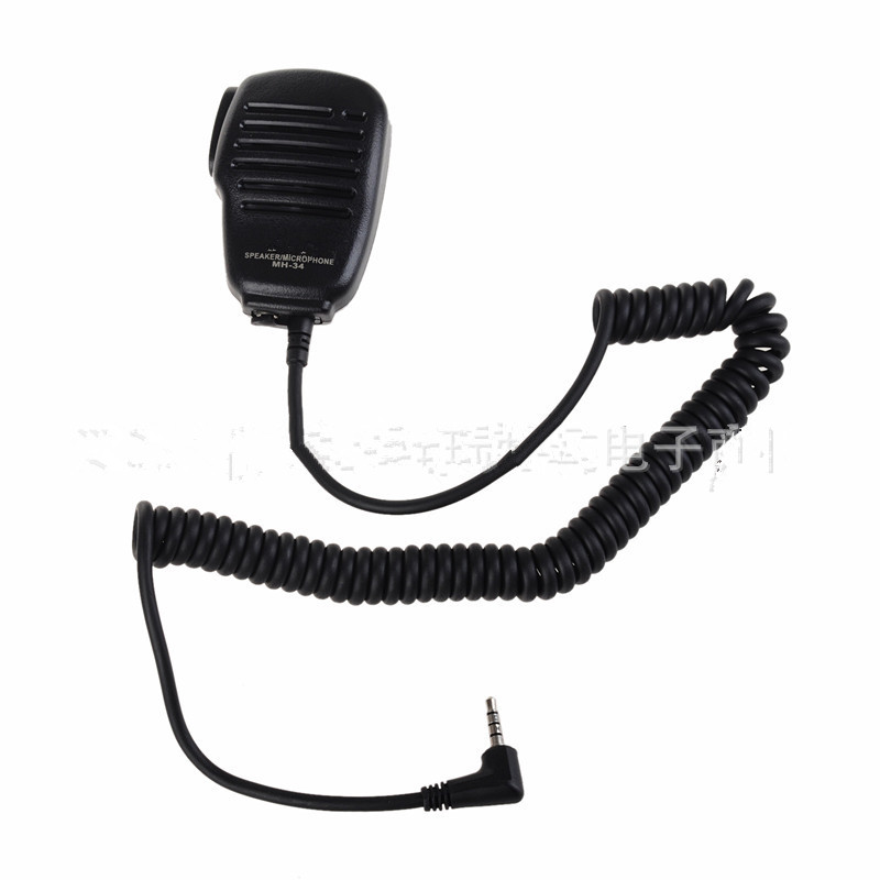 For Yaesu MH-34B4B Speaker Microphone Swivel Clip 3.5 mm Earpiece Audio Jack VX-3R FT-60R FT1DR FT2DR Shoulder PTT Mic Speaker