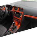 Car-Styling Brand New Car Interior Center Console Color Change Carbon Fiber Molding Sticker Decals For VW Golf 7