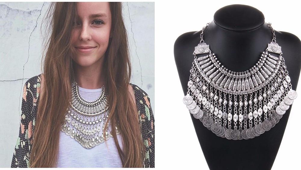 Ztech 18 Women Necklaces & Pendants Vintage Crystal Maxi Choker Statement Collier Femme Boho Big Fashion Jewellery Wholesale 8