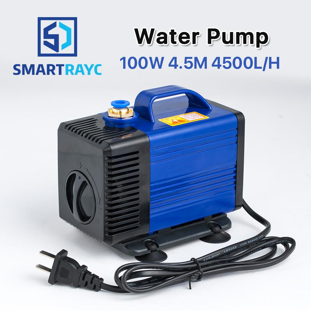 Smartrayc Submersible Water Pump 100W 4.5M 4500L/H IPX8 220V for CO2 Laser Engraving Cutting Machine 100w 220v shower booster water pump
