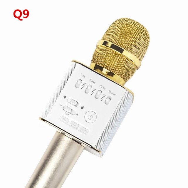 Q7 Update Q9 mini Bluetooth Speaker Microphone Wireless  Phone Karaoke mikrofon Home Car KTV Super Bass Portable Microphone H55