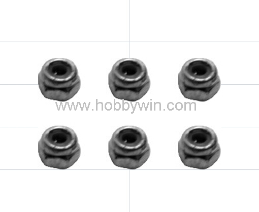 HBX part <font><b>H002</b></font> Lock Nut M3 6pcs for Haiboxing 1/10 & 1/8 RC Scale Model Buggy Car Truck Truggy image