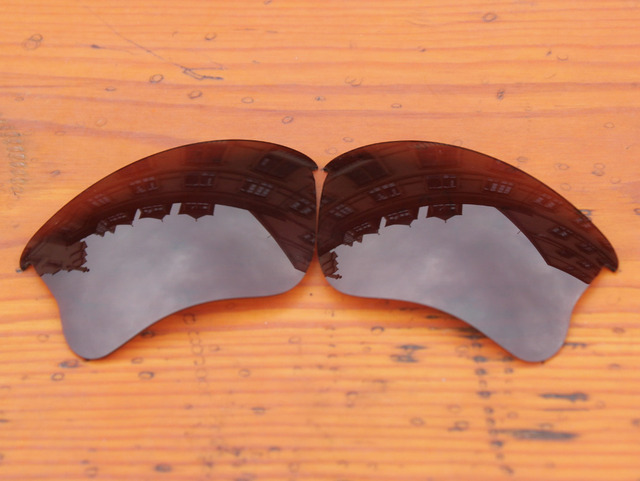 Polycarbonate-Copper Brown Replacement Lenses For Flak Jacket XLJ Sunglasses Frame 100% UVA & UVB Protection