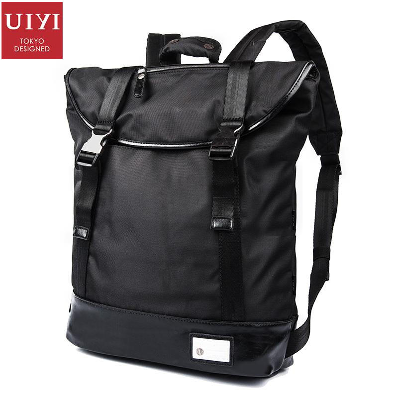 ФОТО UIYI Unisex PVC Waterproof Polyester Backpack For 14 Inch Laptop Travel Bag Teenagers Preppy Style Backpacks Lightweight 160004