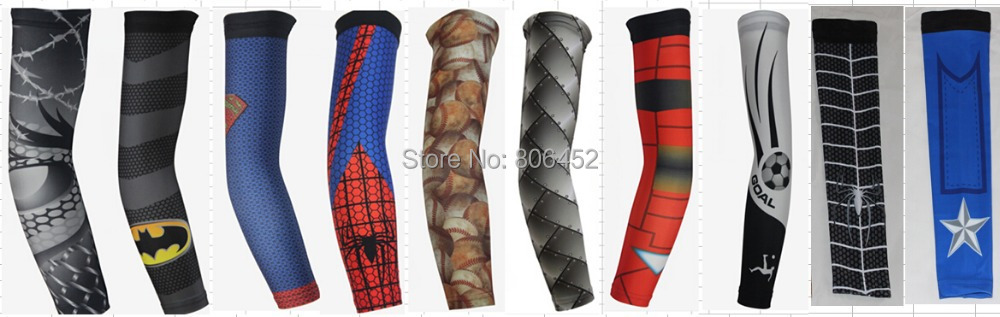 2016 All new design iron-man spider-man Cycling Sports Bike Long Arm Sleeve Iron Man Cover Golf Protection digital camo sleeve