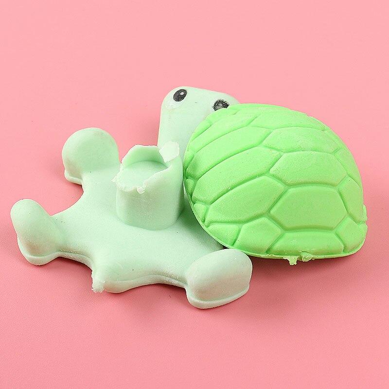 Купить с кэшбэком 1x Kawai turtle lovely animal cartoon eraser eraser / removable student gift school rewards toys Office stationery eraser