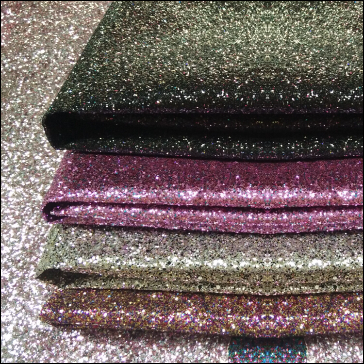 50m one roll Best Selling High Quality Sparkly Chunky Glitter Leather Glitter Fabric For Wallpaper Covering