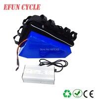 Бесплатная доставка Большая треугольная батарея 60 в 30Ah перезаряжаемая литий ионная батарея для полных шин велосипед для трекинга Электрич
