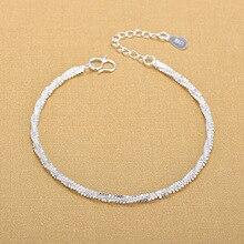 Высокое качество серебряные браслеты 925 модные браслеты Прекрасный модный браслет