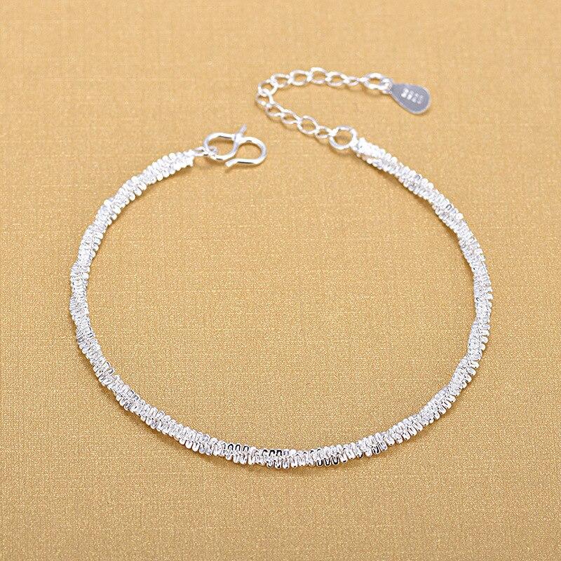 Livraison gratuite Top qualité en gros argent Bracelets 925 mode Bracelets Fine mode Bracelet