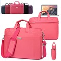 Waterproof Ladies Laptop Shoulder Bag Protective Travel Carrying Case Briefcase Messenger for Macbook Air/ Pro 13 15 inch Retina