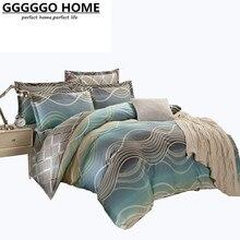 GGGGGO MAISON, Réactive impression ensemble de literie, 100% coton king size linge de lit, literie-set, Lit feuille/housse de couette/literie, lit ensemble