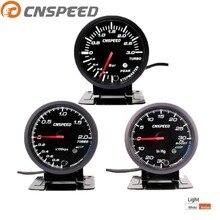 CNSPEED 2,5 дюймов 60 мм Автомобильный турбонаддув 2 бар/3 бар/Psi белый и янтарный двойной светодиодный дисплей с пиПредупреждение c101410
