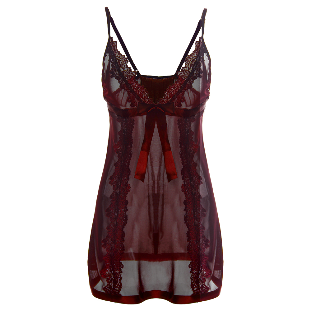 Plus Size S M L XL XXL 3XL <font><b>4xl</b></font> 5XL 6XL Plus Size <font><b>Lingerie</b></font> Solid Transparent Long Dress Women Hot <font><b>Sexy</b></font> Nightwear Erotic image