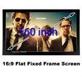Gran Pantalla De Cine 160 Pulgadas Marco Fijo Plana BRICOLAJE Tela 16:9 Relación de Pantalla de Proyección Pantalla De Proyección 3D