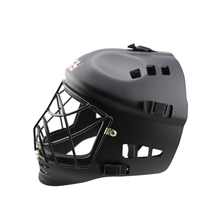 ABS EVA teenager foorball helmet field hockey helmet matte black color head protector best sale