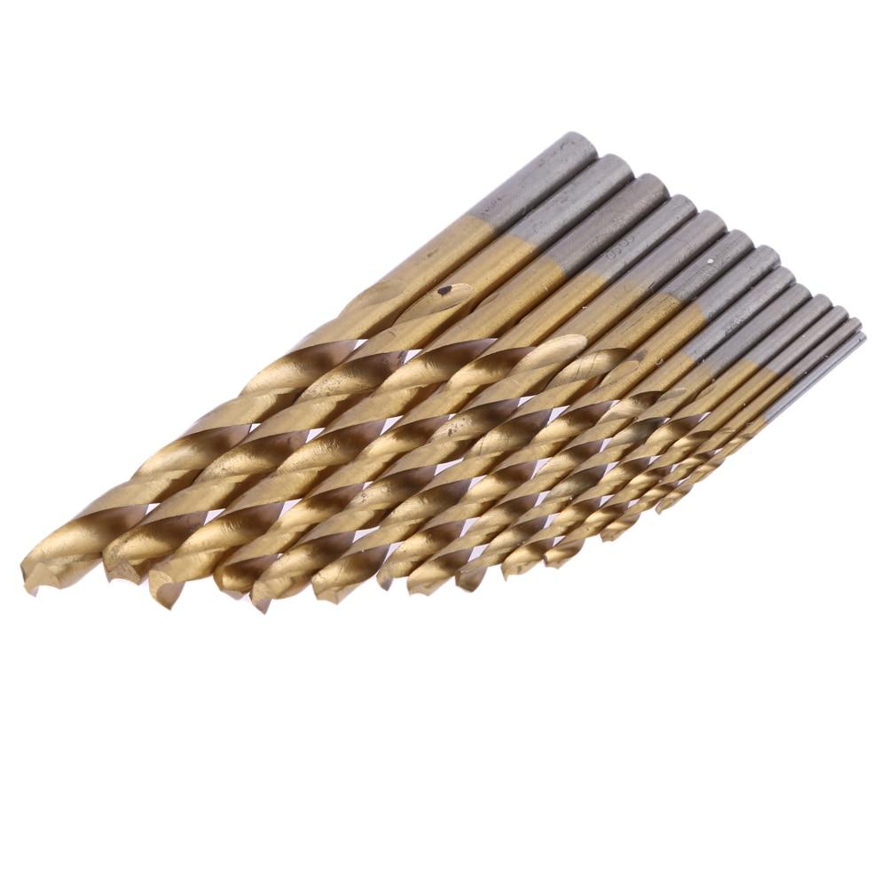 13pcs/set Mini Twist Drill Bit HSS Plating Titanium Saw Set Metric System Titanium Coated Woodworking Drilling Tool hot 50pcs set twist drill bit set saw set hss high steel titanium coated drill woodworking wood tool 1 1 5 2 2 5 3mm for metal