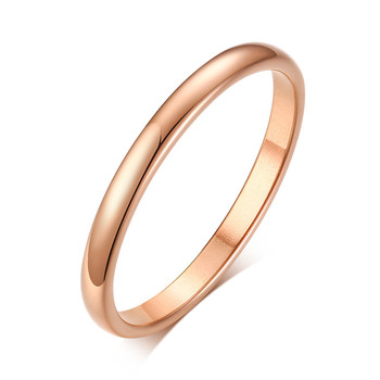 ZORCVENS 2020 New Engagement Ring for Women Simple 316L Stainless Steel Silver Gold Color Finger Girl Gift 1
