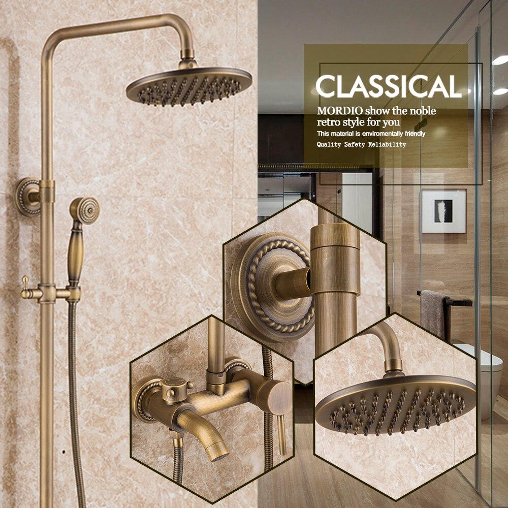 vintage bathroom shower system antique brass tub shower faucet bronze mixer shower head hand shower two