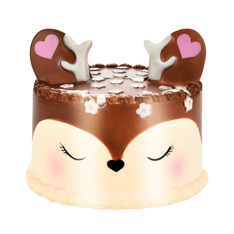 10CM Squishy Jumbo Deer Cake Slow Rising Scented Squeeze Toy Collection Cure Gift For Kid Children A1